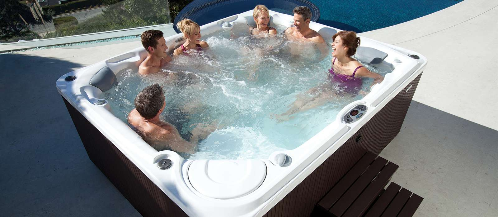 Gleam 8 person Hot Tub from Limelight Collection
